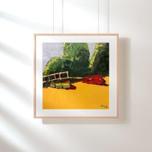 Красный автомобиль на пляже_ (1)